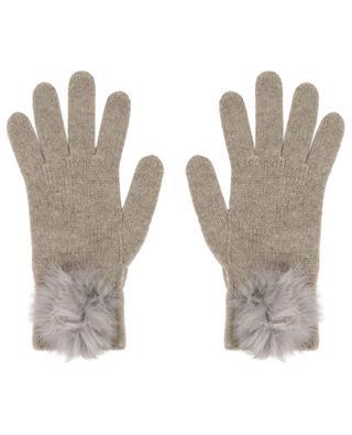 Gants embellis de pompons en fourrure Trocadéro LEA CLEMENT