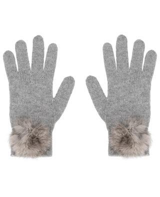 Handschuhe mit Pelzpompons Trocadéro LEA CLEMENT