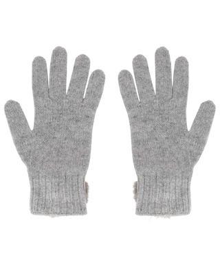 Trocadéro gloves with fur pompons LEA CLEMENT
