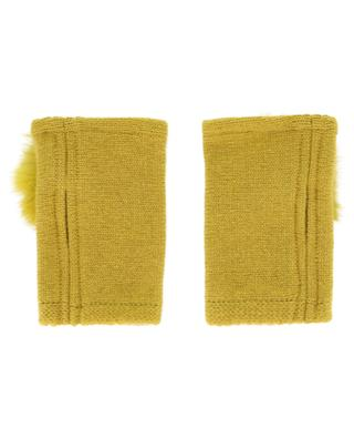 Trocadéro fur embellished mittens LEA CLEMENT
