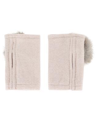 Fingerlose Handschuhe mit Pelz Trocadéro LEA CLEMENT