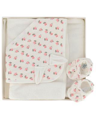 Set mit Hausschuhen und Baby-Badetuch PETIT BATEAU