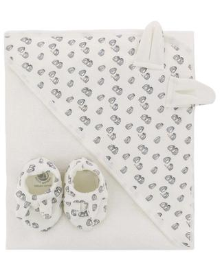 Set composed of slippers and baby towel PETIT BATEAU