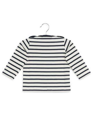 Sweat-shirt marinière en coton PETIT BATEAU