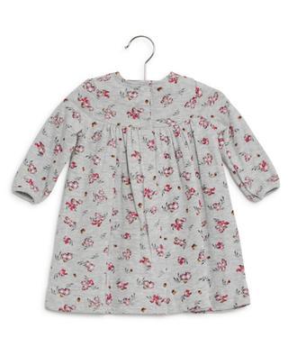 A-förmiges geblümtes Jersey-Kleid PETIT BATEAU