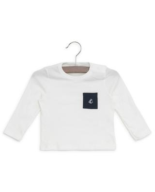 Set of 2 long-sleeved cotton T-shirts PETIT BATEAU