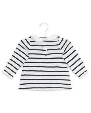 T-shirt marinière à manches longues en coton PETIT BATEAU