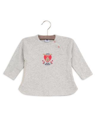 T-Shirt aus Baumwolle mit Häschen-Print PETIT BATEAU