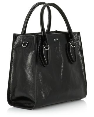 Mini crinkle patent leather bag in tote spirit TOD'S