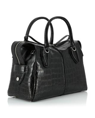 Medium croc effect leather tote bag TOD'S