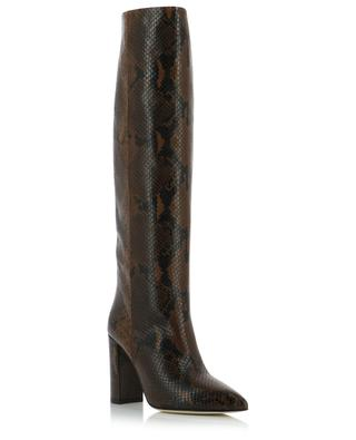 Stiefel mit Blockabsatz in Python-Optik PARIS TEXAS