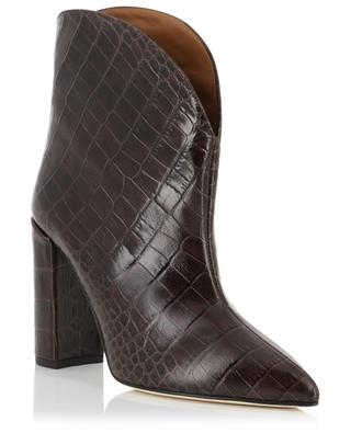 Cocco python effect heeled ankle boots PARIS TEXAS