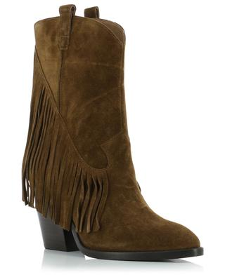 Elison Bis fringed suede ankle boots ASH