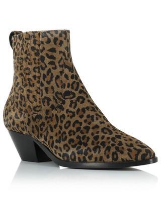 Wildlederstiefeletten mit Leopardenprint Future ASH