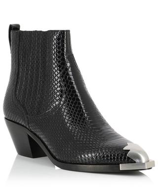 Floyd textured patent leather ankle boots ASH