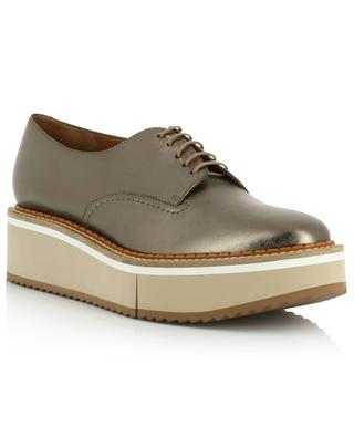 Berlin metallic leather wedge derby shoes CLERGERIE