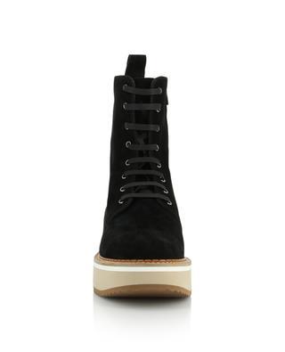 Brighton combat spirit split leather ankle boots CLERGERIE