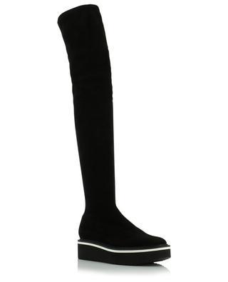 Bella stretch suede platform boots CLERGERIE