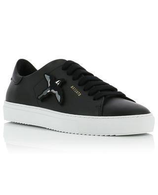 Schwarze Ledersneakers mit austauschbaren Aufnähern Clean 90 AXEL ARIGATO