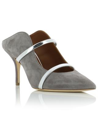 Maureen suede and leather high-heeled mules MALONE SOULIERS