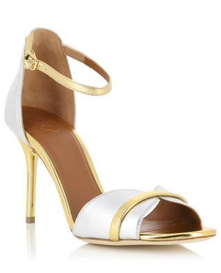 Honey bicolour metallic leather sandals MALONE SOULIERS