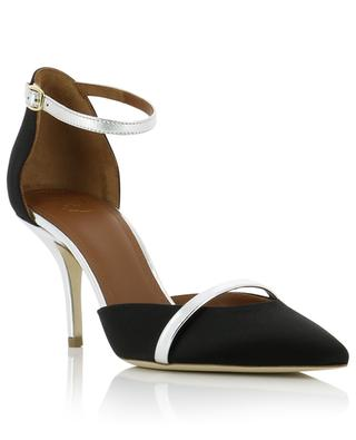 Booboo 70 open satin and silver leather pumps MALONE SOULIERS