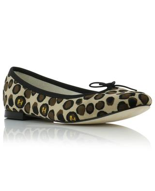 Cendrillon flocked leather ballet flats with animal print REPETTO