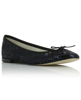 Cendrillon snakeskin effect leather ballet flats REPETTO