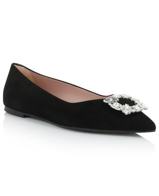 Ella pointy tip crystal buckle ballet flats PRETTY BALLERINAS