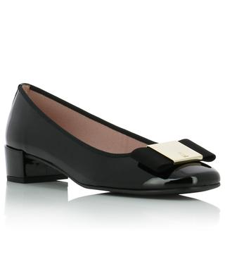 Odette patent leather ballet pumps with grosgrain bow PRETTY BALLERINAS