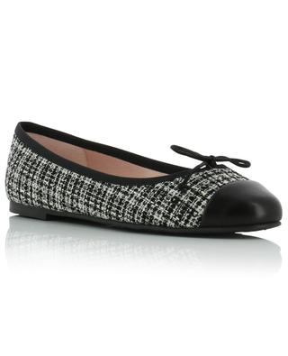 Marilyn tweed and leather ballet flats PRETTY BALLERINAS
