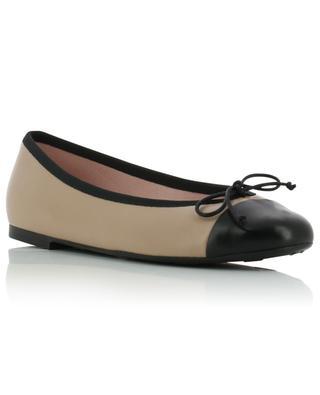 Nicole leather cap-toe ballet flats PRETTY BALLERINAS