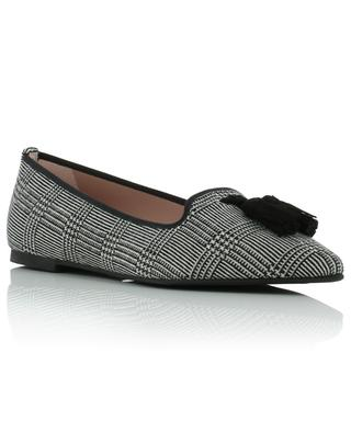 Ella glen check knit pointy toe ballet flats PRETTY BALLERINAS