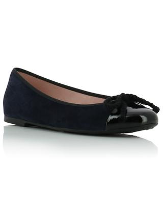 Nicole suede and patent leather ballet flats PRETTY BALLERINAS