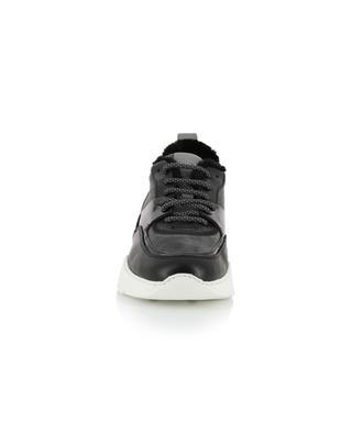 Keil-Materialmix-Sneakers mit warmem Futter SANTONI