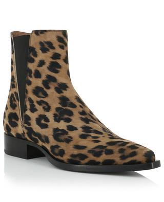 Wildlederstiefeletten mit Leopardenprint Kurt SARTORE