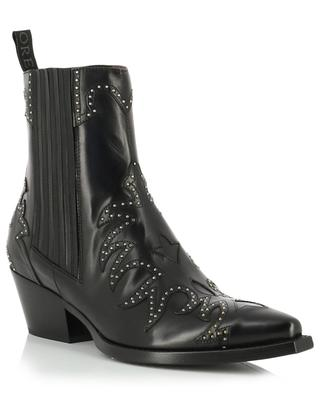Sovave studded flame design pointed ankle boots SARTORE