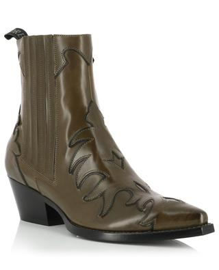 Pointed booties with contrasting flame details SARTORE
