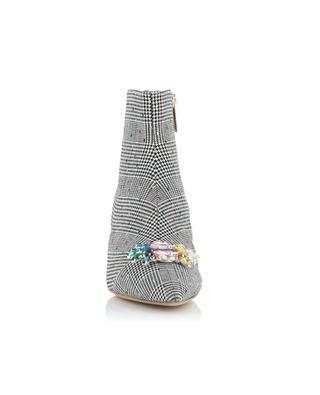 Stiefeletten aus Stoff mit Glencheck und Kristallen Bellevue KURT GEIGER LONDON