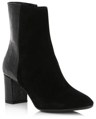 Ankle boots in croco effect and suede BONGENIE GRIEDER