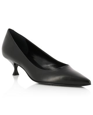 Kitten heel pumps in smooth leather BONGENIE GRIEDER