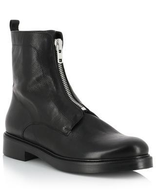 Biker spirit grained leather ankle boots BONGENIE GRIEDER