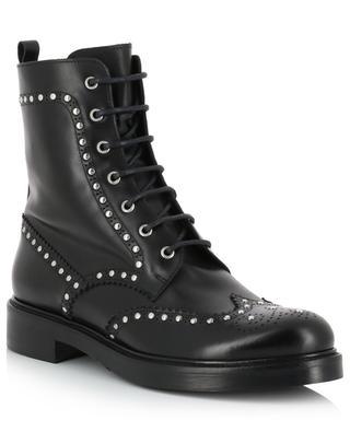 Studded biker spirit leather ankle boots BONGENIE GRIEDER