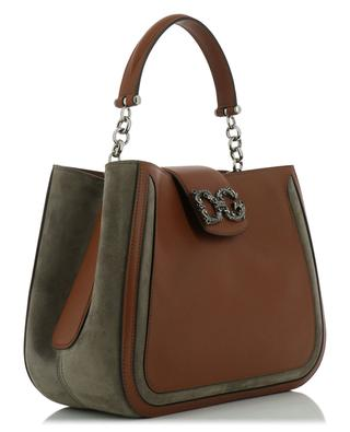 DG Amore leather and suede handbag DOLCE & GABBANA