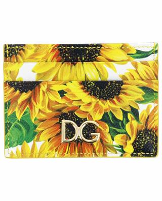 Sunflowers DG printed leather card holder DOLCE & GABBANA