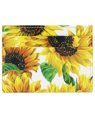 Porte-cartes en cuir imprimé Sunflowers DG DOLCE & GABBANA