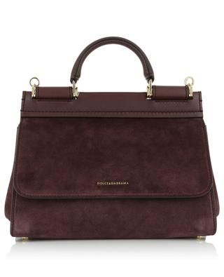 Sicily Soft Small suede and leather handbag DOLCE & GABBANA