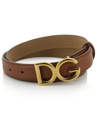 DG monogrammed leather belt DOLCE & GABBANA