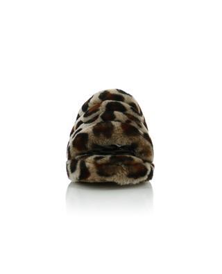 Pantoletten aus Schafsfell Fluff Yeah Slide Leopard UGG