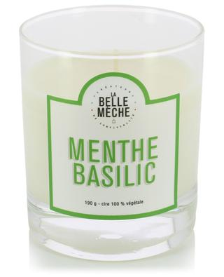 Mint Basil scented candle LA BELLE MECHE